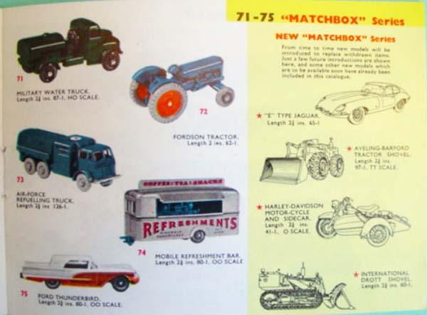 matchbox catalogs 1962