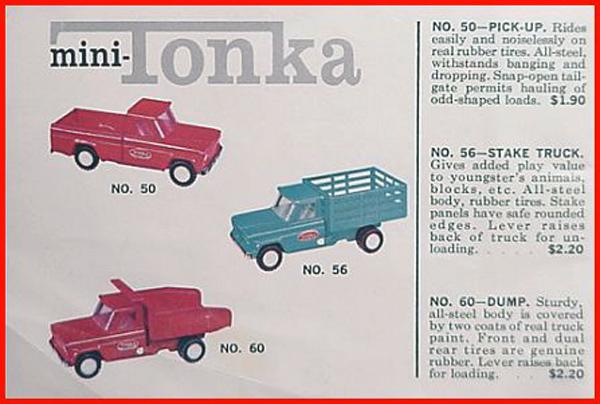 0050 Mini Tonka Jeep Pickup